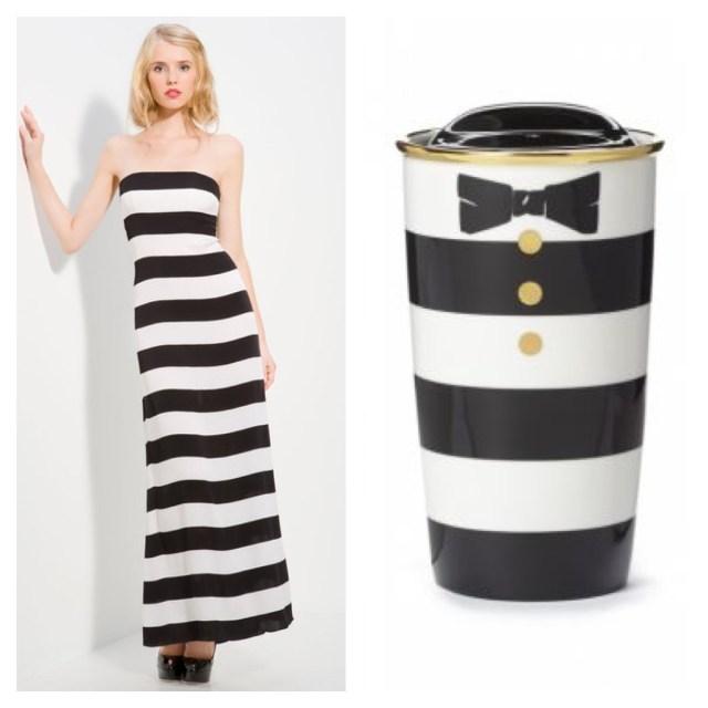 alice + olivia Starbucks dress black and white split