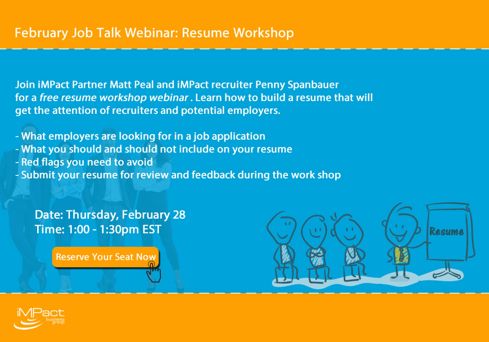 Webinar Registration Job Talk - Resume Workshop