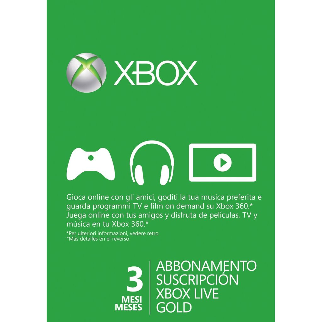 Xbox Live Gold 1 Mes Xbox Live 3 Meses Impact Game