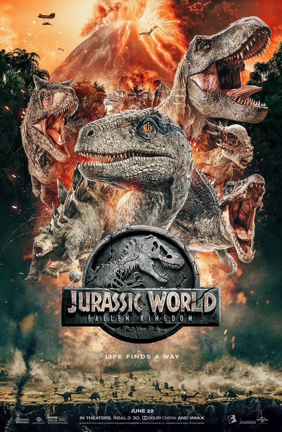 Poster Of The World Jurassic World Fallen Kingdom Movie Poster 7 Of 8 Imp Awards