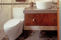 Custom Bathroom Cabinets - Curved Face Sinks Two Level ...