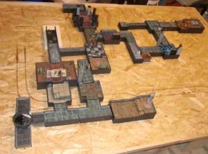 Photo of custom Warhammer Quest 3D board layout