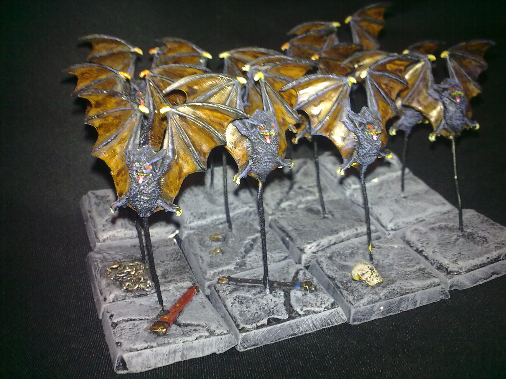 Giant Bats, painted by Questing Knight. Particularly proud of the scenic flagstone bases!