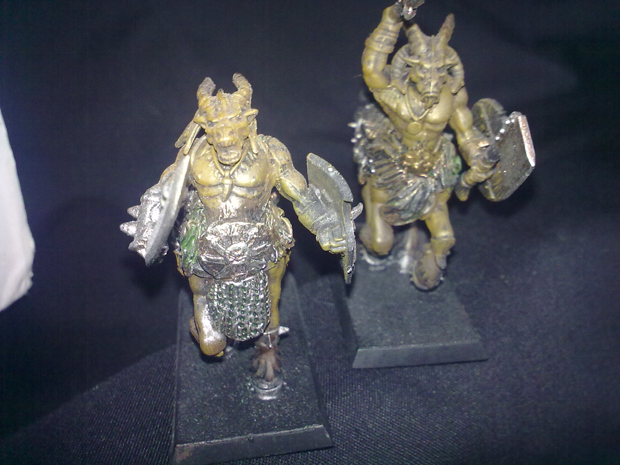 Beasman Centigors, close-up, painted and converted by Questing Knight