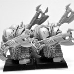 ForgeWorld Chaos Dwarf Infernal Guard with Fireglaives - Chaos Dwarf Blunderbuss Proxies
