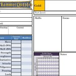 Warhammer Quest Character Sheet by LuigiX
