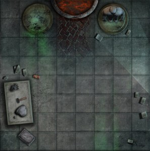 A Sample Warhammer Quest Board Section from the set contribnuted by Jonathan Uziak