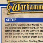 Preview of new Warhammer Quest Reference sheet contributed by Universal Head