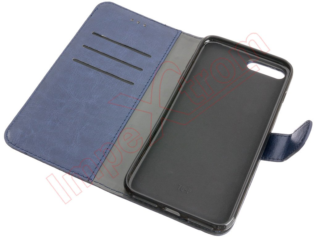 Funda Libro Iphone 7 Funda Tipo Libro Azul Para Iphone 7 Plus De 5 5 Pulgadas