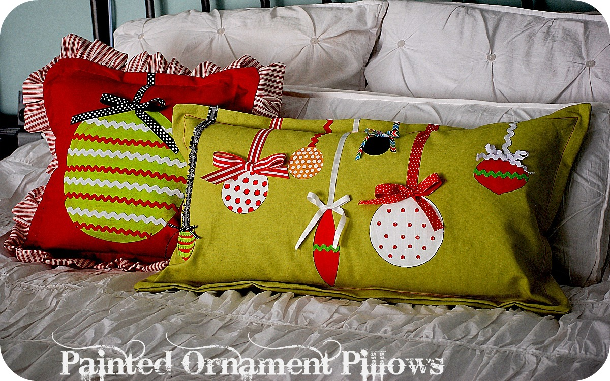 Christmas Project  make Painted Ornament Pillows