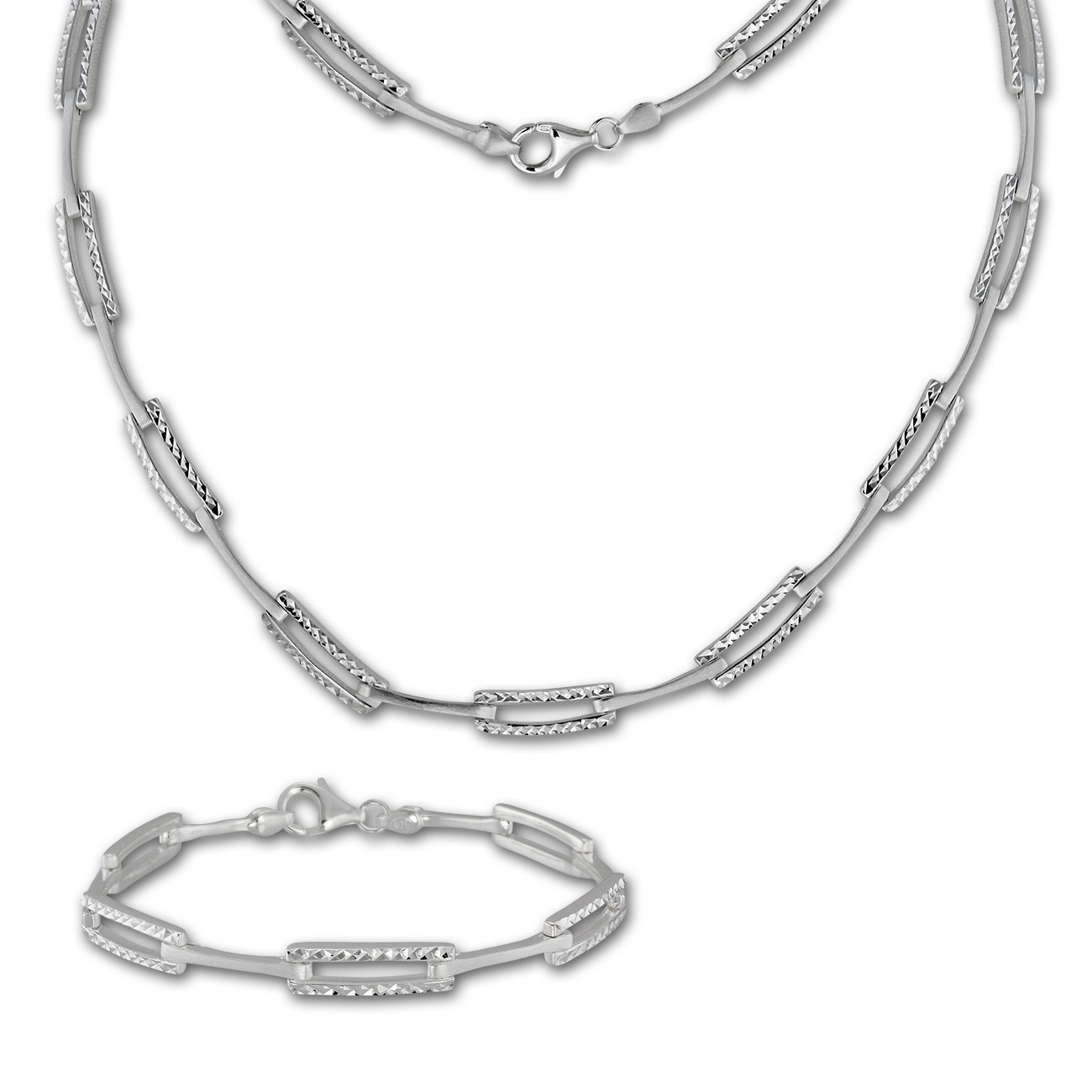 Collier Schmuck Silberdream Schmuck Set Diamantiert Collier And Armband