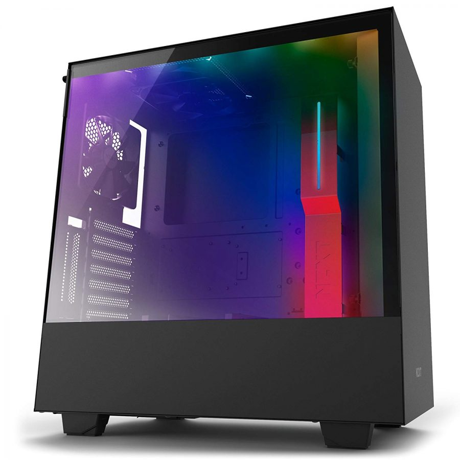 Case Pc Nzxt H500i Compact Atx Mid Tower Pc Gaming Case Rgb Lighting And Fan Control Cam Powered Smart Device Tempered Glass Panel Enhanced Cable