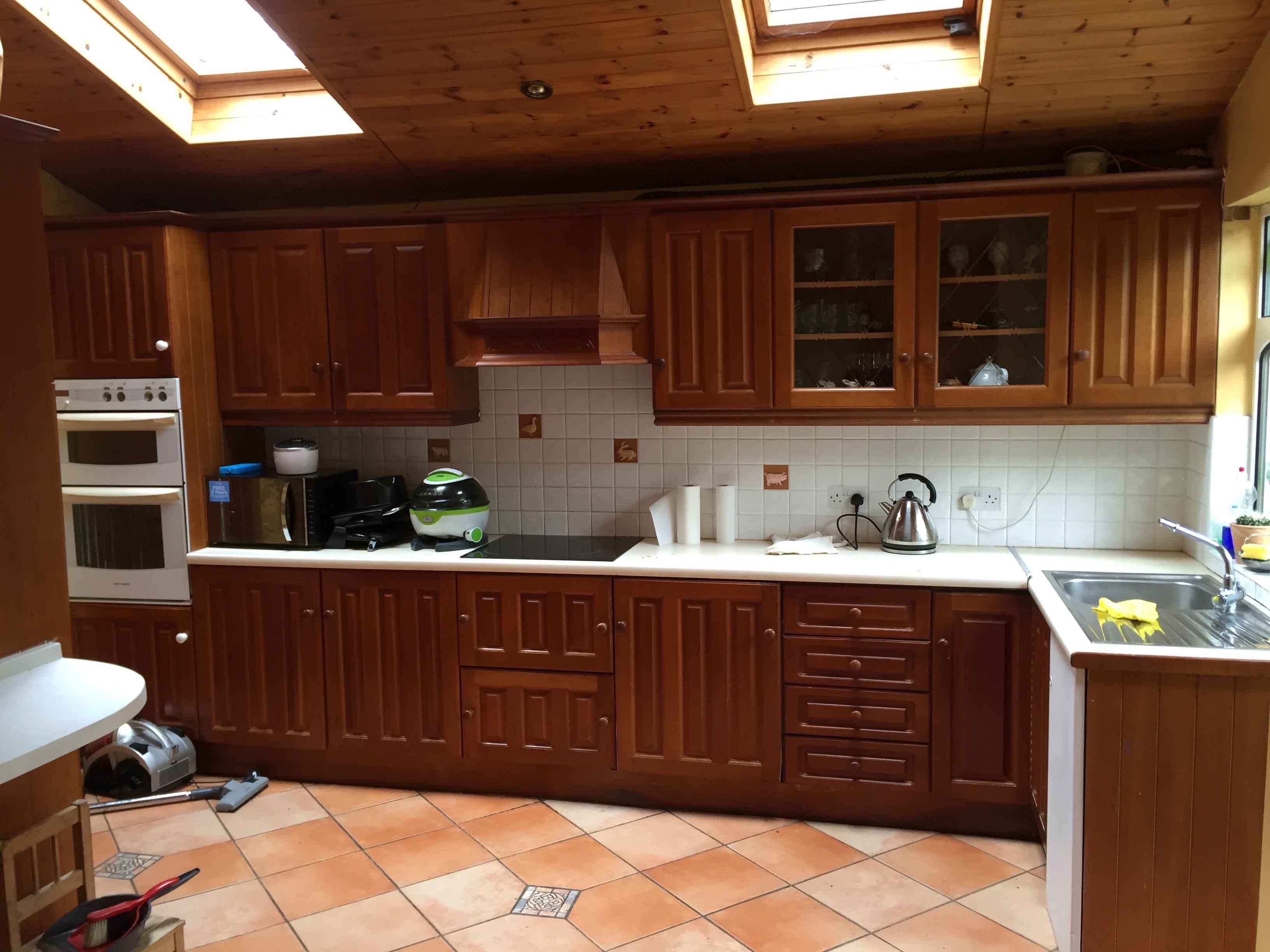 How To Hand Paint Wooden Kitchen Cupboards Impressions Ie Painting And Decorating In South Dublin