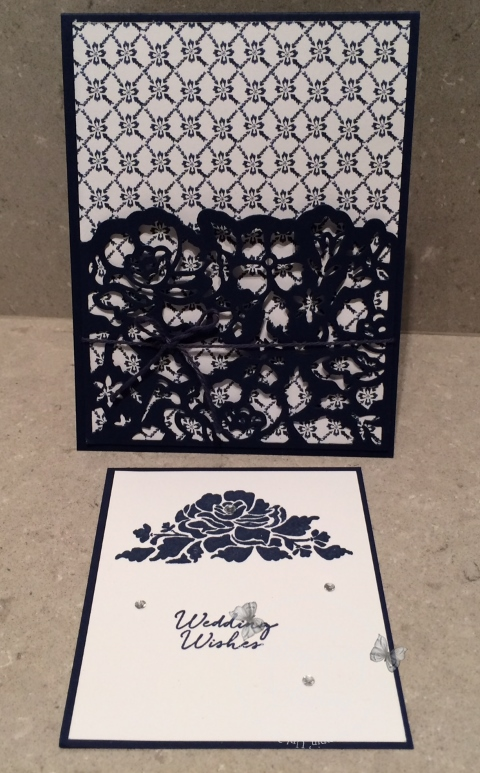 Floral Phrases Navy Note