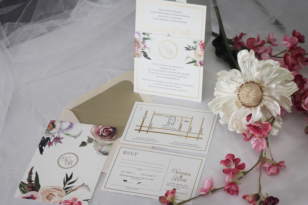 Gold Foil Wedding Invitations Impressions Custom