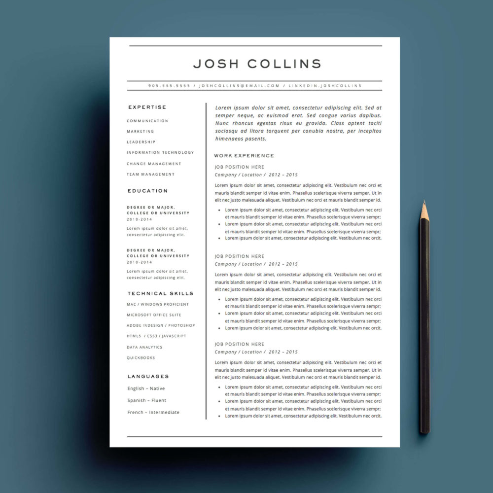 microsoft office package cv