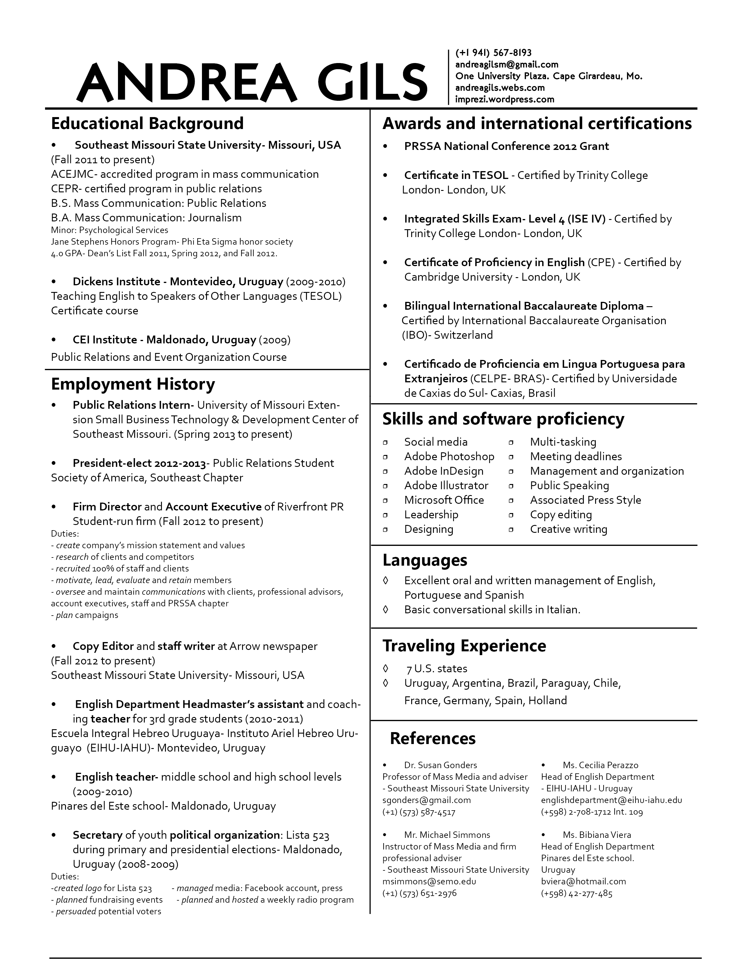 resume tips for professionals