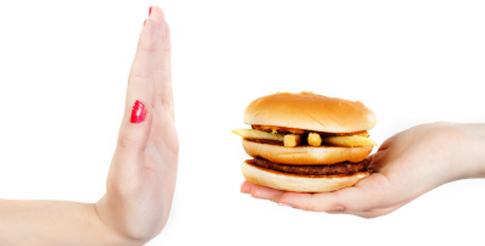 """say """"no"""" to unhealthy food"""