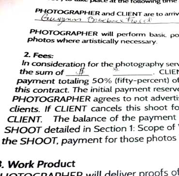 15 Things to Include In a Portrait Photography Contract \u2013 Improve