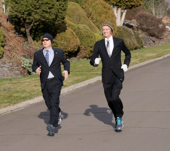 I joined James Dalton (left, with sunglasses) for a run last week.