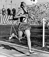 Gerry Lindgren winning the US vs. USSR 10,000 meters in the Los Angeles Coliseum