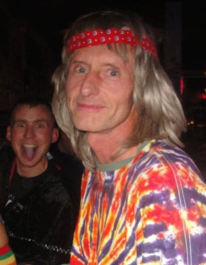 At a Halloween party, I got photo-bombed by a fun-loving, goofy Don. He's not like that anymore.