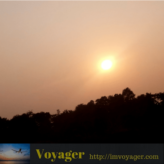 Sunset in Bagdogra - What to see in Darjeeling, the Tea Country