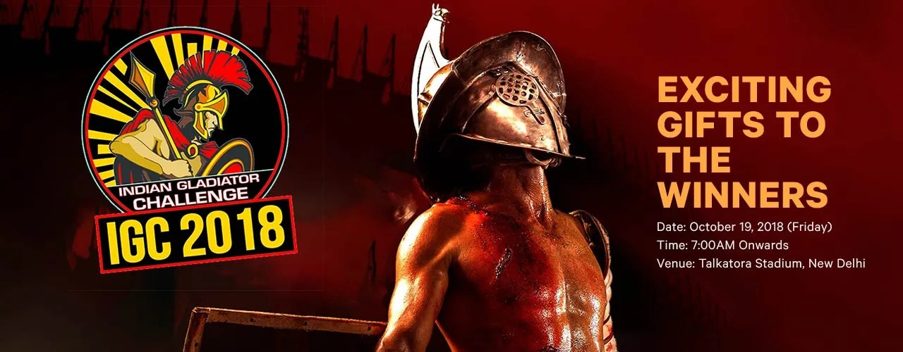 Indian Gladiator Challenge event tickets NCR - BookMyShow