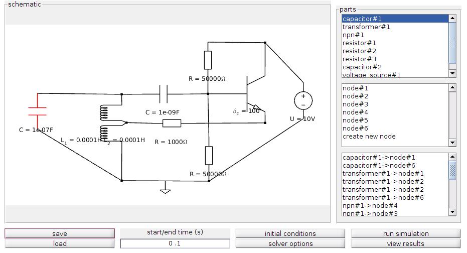 electronic circuit simulation in matlab