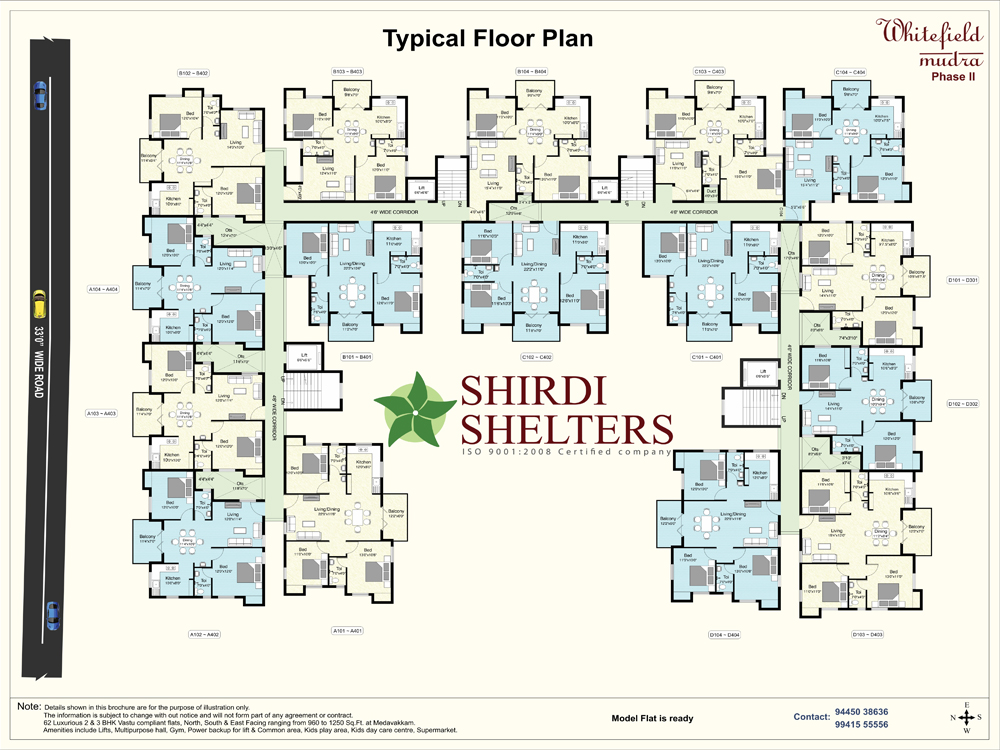 whitefield mudra - phase ii, project by shirdi shelters builder