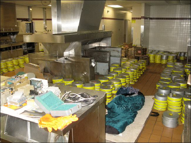 Behind the counter of an abandoned McDonalds lie 48,000 lbs of 70 mm tapes – the only copy of extremely high-resolution images of the moon.
