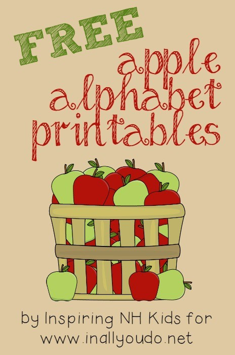 FREE Printable Apple Alphabet Cards - In All You Do