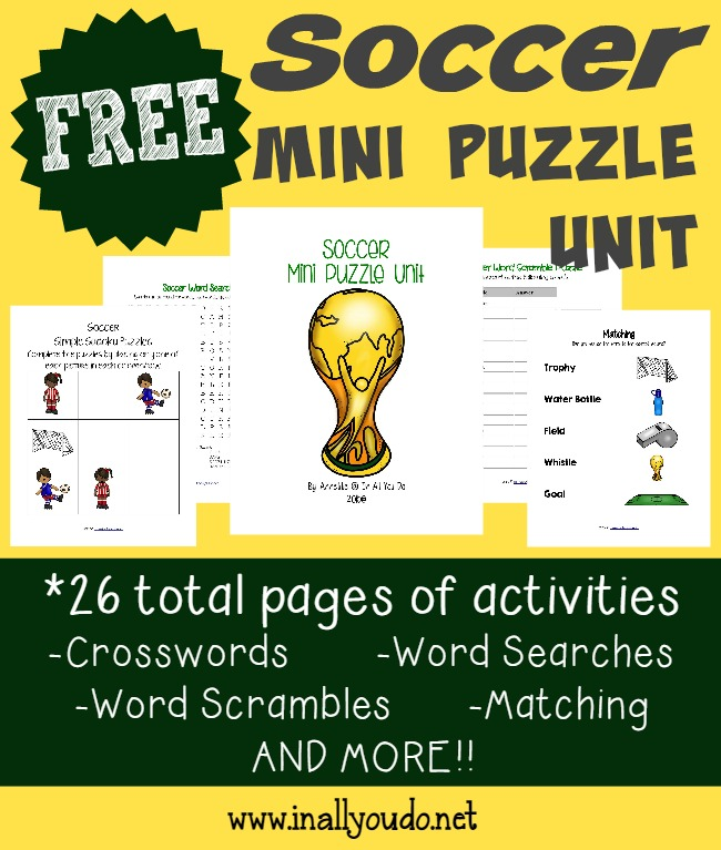 free} Soccer Puzzle printables - In All You Do
