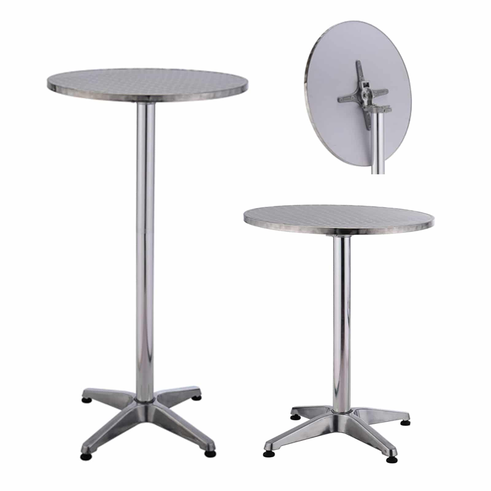 Unusual Cocktail Tables Aluminium Bar Table Folding Top With Base Weight