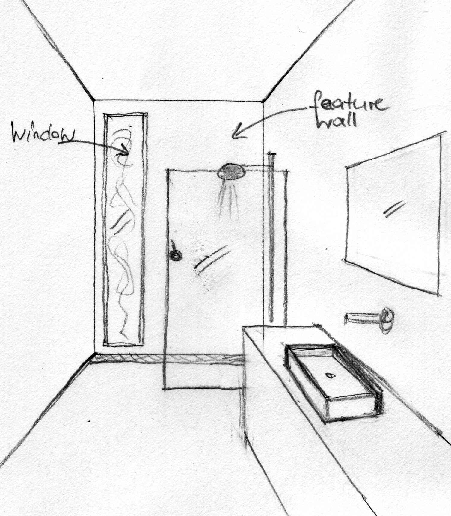 bathroom perspective drawing