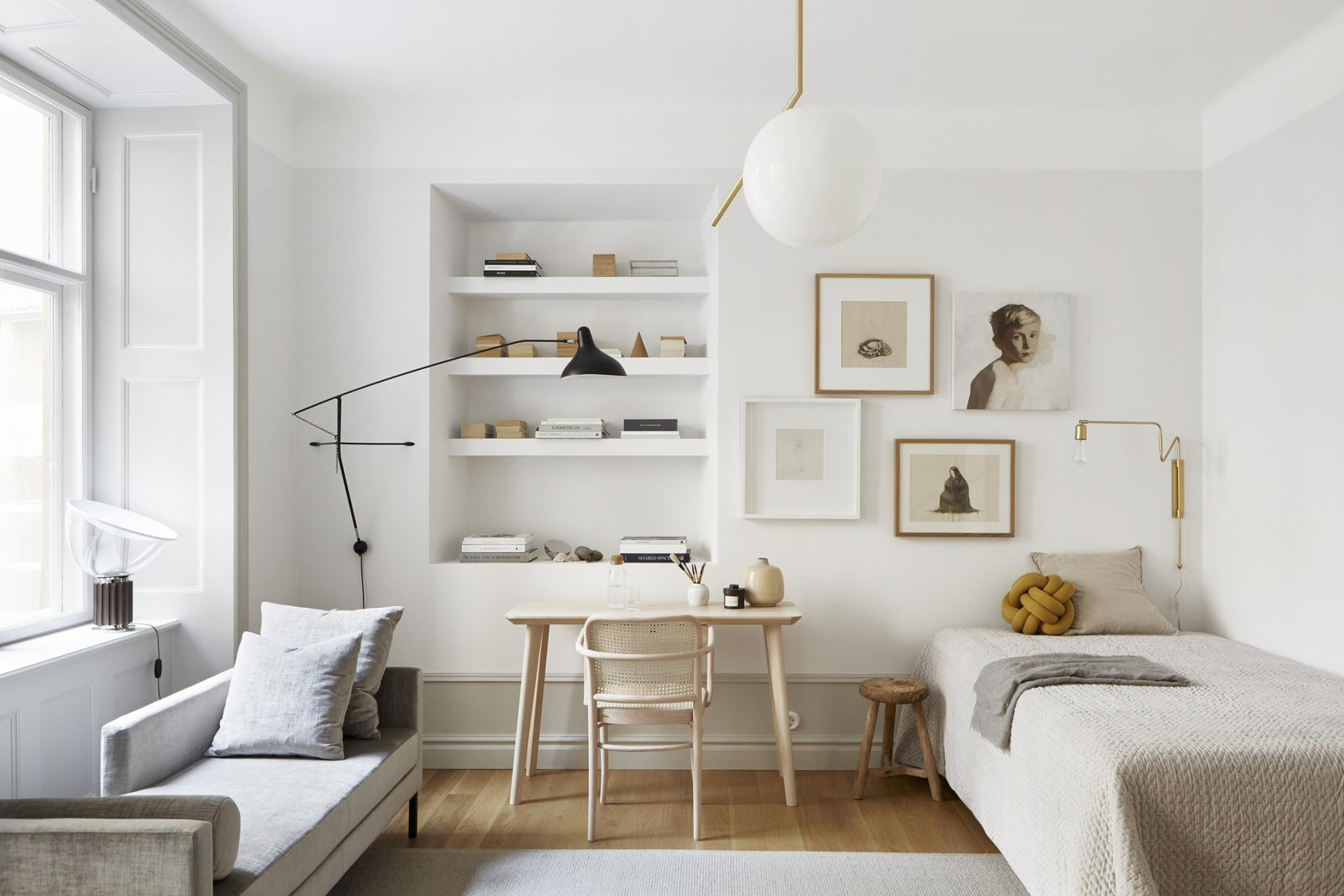 Warm Minimalistisch Interieur A Small Studio Apartment – Inattendu