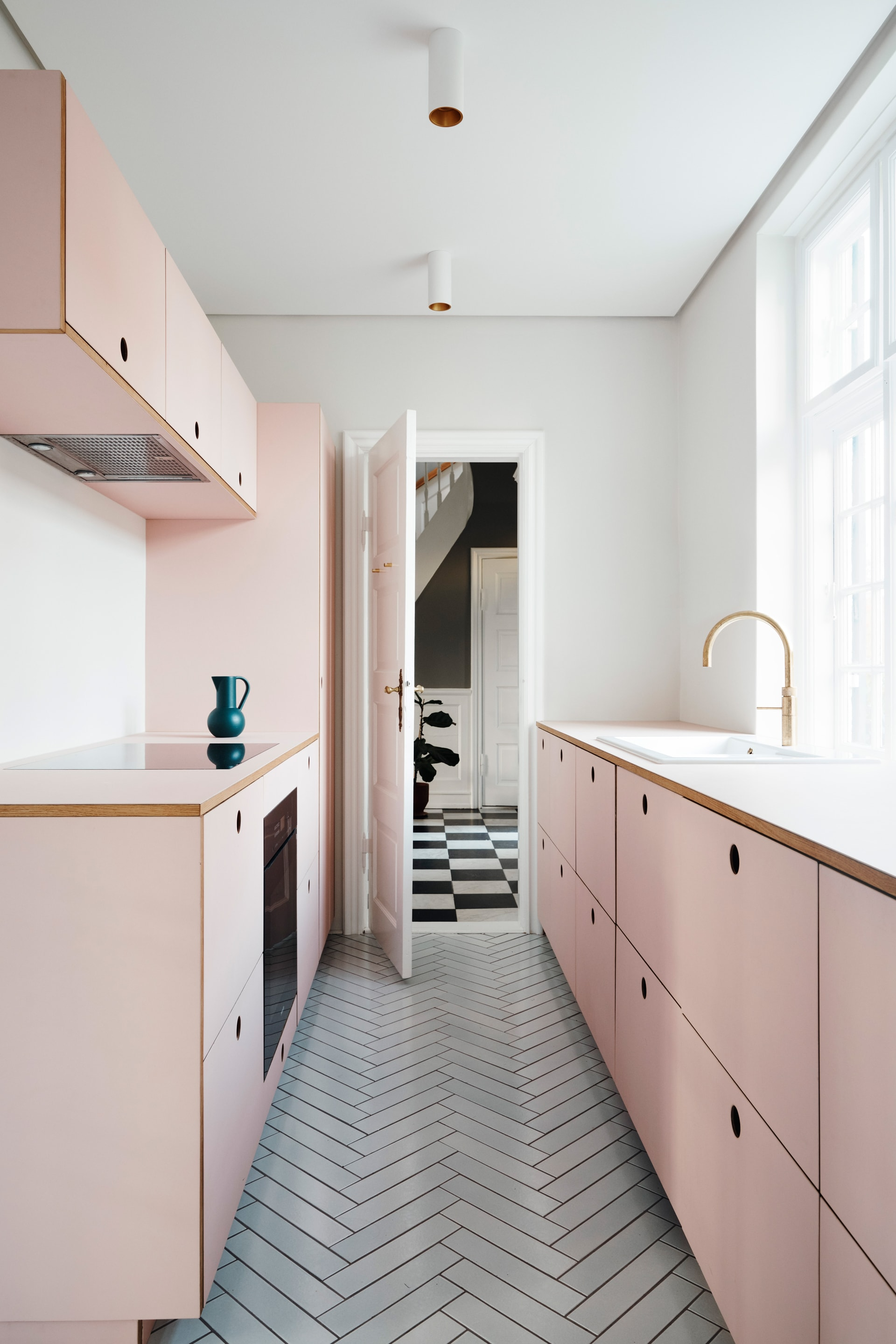 Scandinavian Interior Pink Kitchen Fronts By Reform For Ikea Kitchens