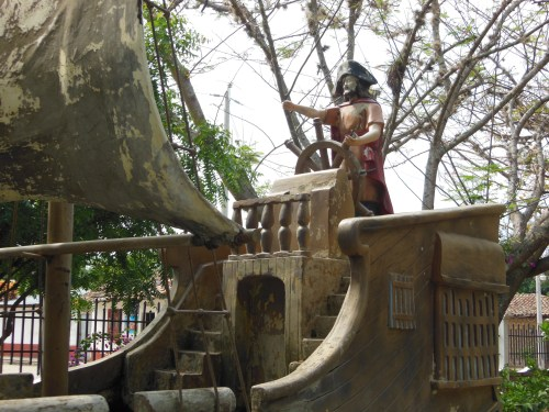 Pirate ship in the Cuidad Antigua park