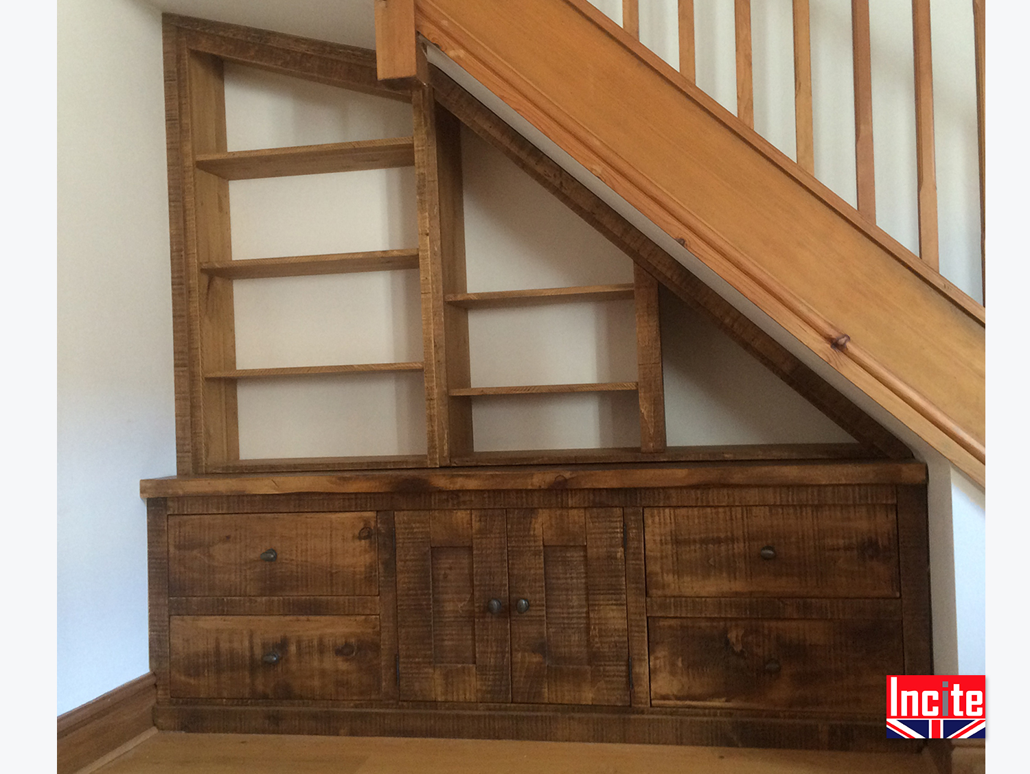 Under Stairs Bookcase Under Stairs Fitted Bookcase Cabinet Incite Interiors