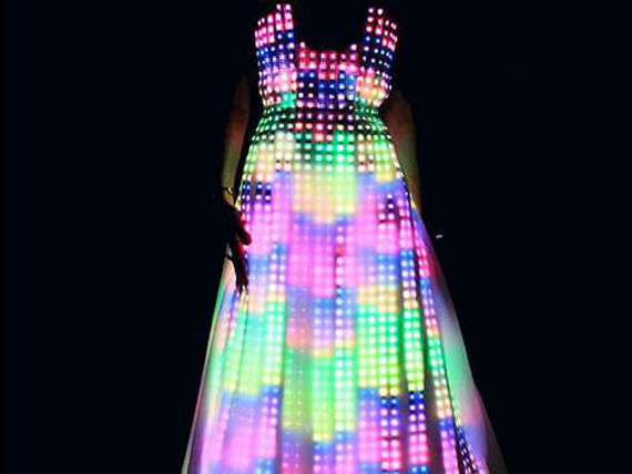 Unique Clothing Plus Size Mesmerizing: Led Dress | Incredible Things