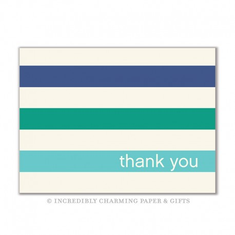 Stripe Ocean Notecards