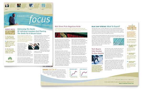 Free InDesign Template of the Month Newsletter Layout (Premium - free newsletter layouts