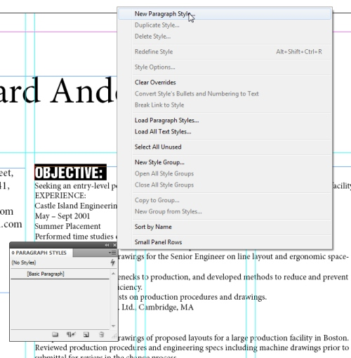 How to Design a Resume in InDesign CS5 - InDesignTutorials