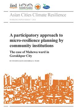 A participatory approach to micro-resilience planning by community institutions