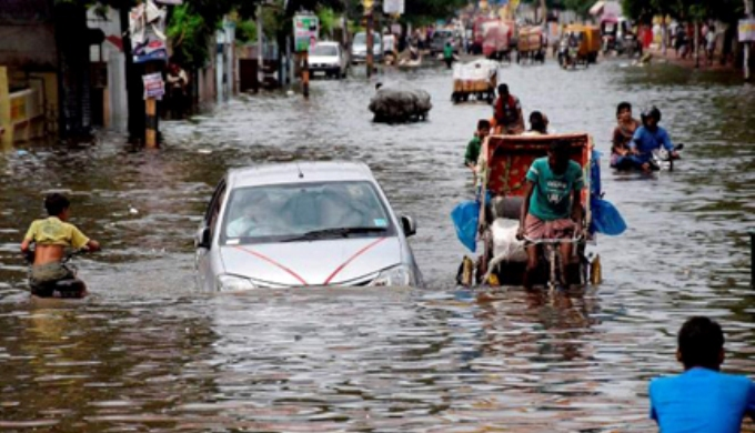 A street in Patna, capital of eastern India's Bihar state, flooded in recent rain (Image by Press Trust of India)