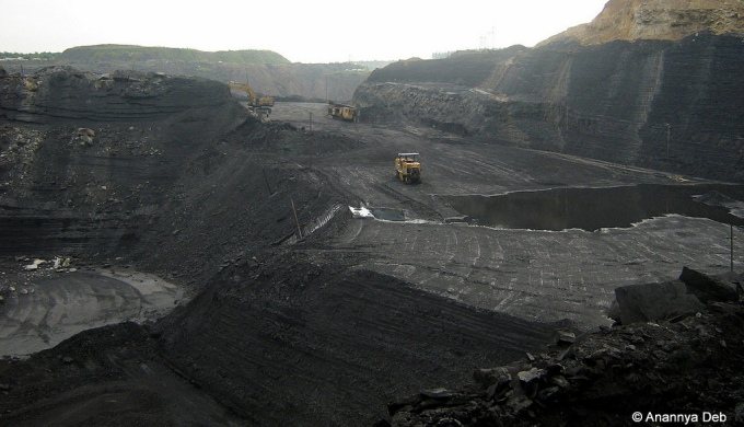 One of the several coal mines at Talcher in Orissa. (Image by Anannya Deb)