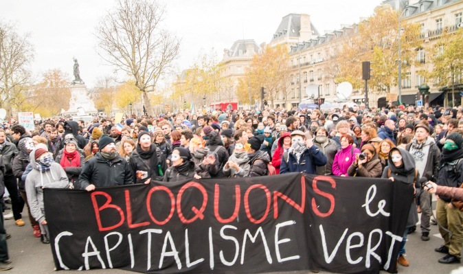 A climate protest that took place in Paris (Image by Duc)