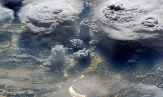 Monsoon clouds (Image by NASA, International Space Station, 06/03/02)