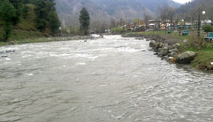 The Lidder, flowing through Anantnag, once used to boast many trout, but fewer are found now.