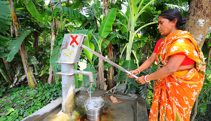 In Maheshchandrapur village of Nadia district, Anjali Biswas has been walking the 100 metres to this tube well twice a day every day for 10 years. It gives shade, water and a place to meet neighbours. But when she got there on the morning of May 27, she found a large red cross on the tube well. The state government's health department had checked the water, found the arsenic concentration above the safety limit, and had made this mark to warn residents not to draw water here. But without walking much farther, Biswas has no option. She knows about the effect of arsenic in drinking water — stomach diseases, skin diseases, fever, reduced immunity and even cancer. Still, she continues to fill water from the tube well, as she wonders what she should do.